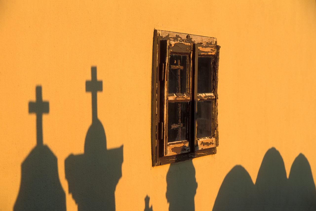 Croatian windows, analog photography, shadows